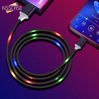 2A Fast Charging Type C Cable KISSCASE for Samsung S10 S9 LED Voice Control USB C Cable for Xiaomi