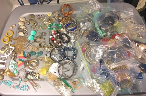 Almost 9 pounds of Wearable Pre owned Costume jewelry!!!!