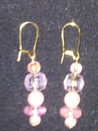 New Pink pearl earrings