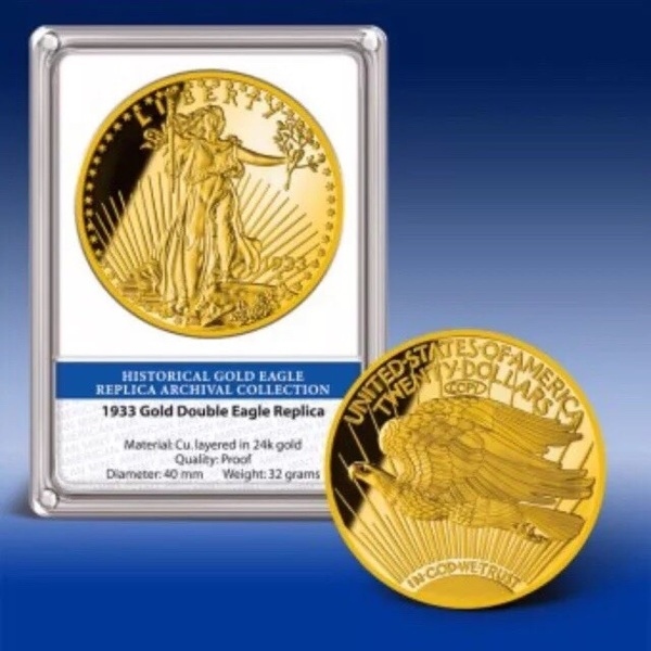 1933 Gold Double Eagle Archival Edition 24k Layered Proof Replica 1835029783