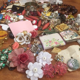 BIG Collection Vintage Newer Jewelry Watches Pins Bracelets +++