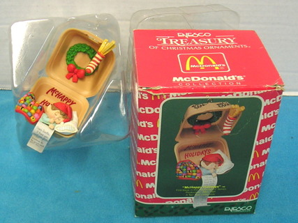 Mcdonalds Christmas Ornament.Free A649 Mchappy Holidays Big Mac 1990 Enesco Mcdonalds Christmas