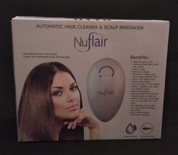 ** NUFLAIR AUTOMATIC HAIR CLEANER & SCALP MASSAGER **
