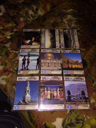 9 random desert storm cards with sleeve