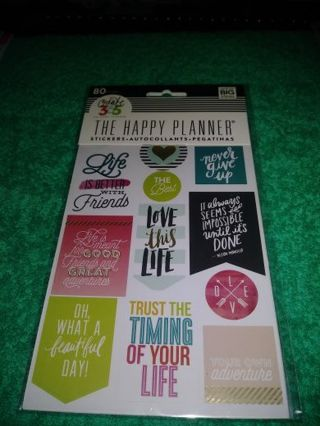 "❤✨❤✨❤️BRAND NEW 80 PC. COUNT PACK OF ASSORTED ""THE HAPPY PLANNER""® STICKERS❤✨❤✨❤LAST 1!"