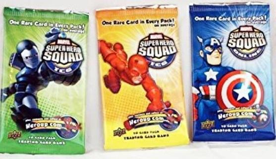 1 NEW Marvel Super Hero Squad Cards TCG Topps Booster Pack *RANDOM PICK*