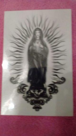 St. Mary temporary tattoo