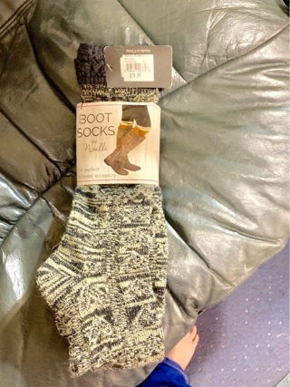 Brand New Gift Quality Brown Boot Socks