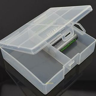 Portable Transparent Battery Storage Case Box Container for 24 x AA Batteries PP