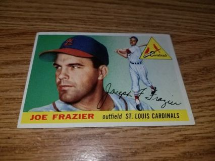 1955 Topps Baseball Joe Frazier #89 St Louis Cardinals,EX condition,Free Shipping!