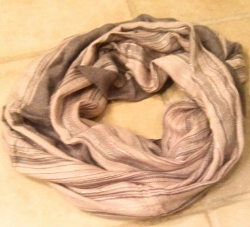 Light weight striped infinity scarf