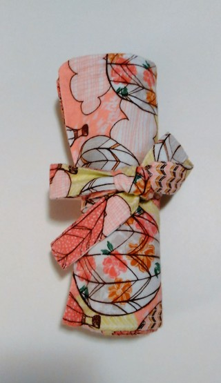 *Pink/Peach Hot Air Balloon Print Baby Receiving Blanket - One of a kind, handmade!