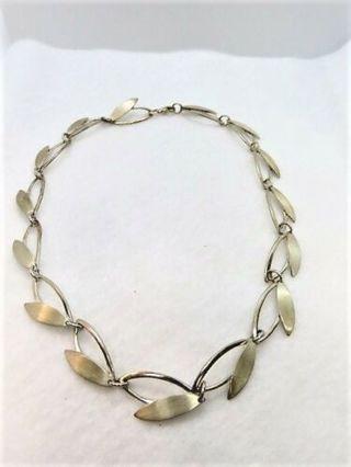 Vintage 925 Bib Necklace 30.2 Grams