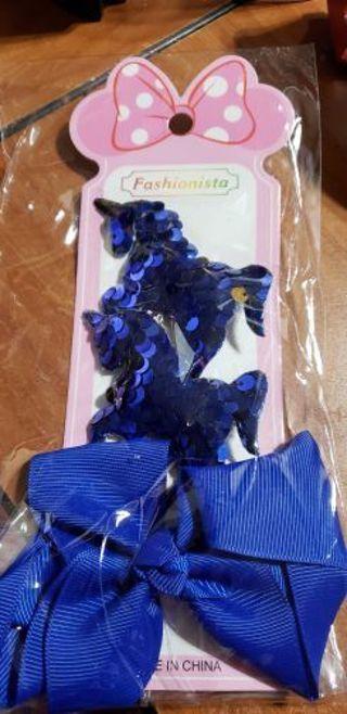 Blue hair clips for girls