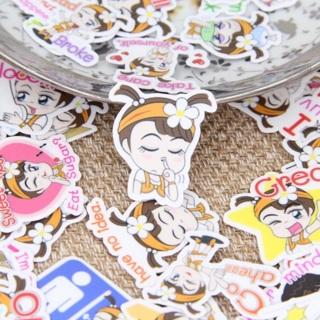♢ Sassy Toddler Girl High End Kawaii Sticker Flakes set of 10 NEW ♢