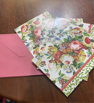 Brand New Beautiful Waverly Flowers Medley Blank Note Cards -- Great for Thank Yous & Spring