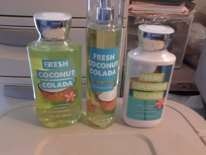 Bath And Body 3 PC Set Brand New