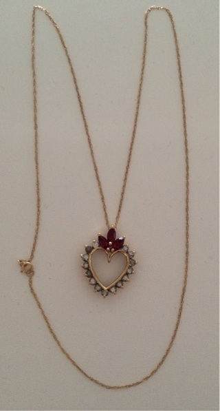 10k Heart Pendant & 10k necklace