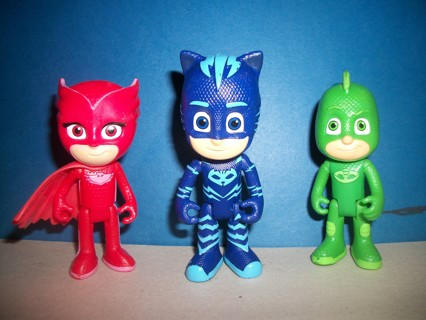 Three PJ Masks Toys