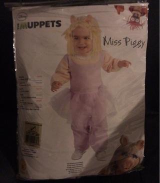 Disney Miss Piggy - Newborn Infant Size 0-6 Mon - Halloween Costume - NEW