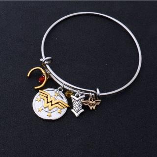 DC Comics WONDER Woman CHARM Bangle Bracelet Wristband SuperHero