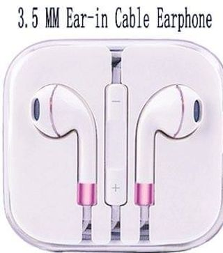 NEW In Ear Pink &White Earbuds FREE SHIPPING